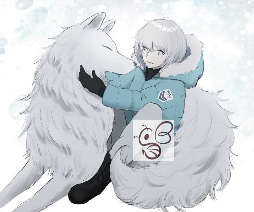 キャラクター_犬_女性