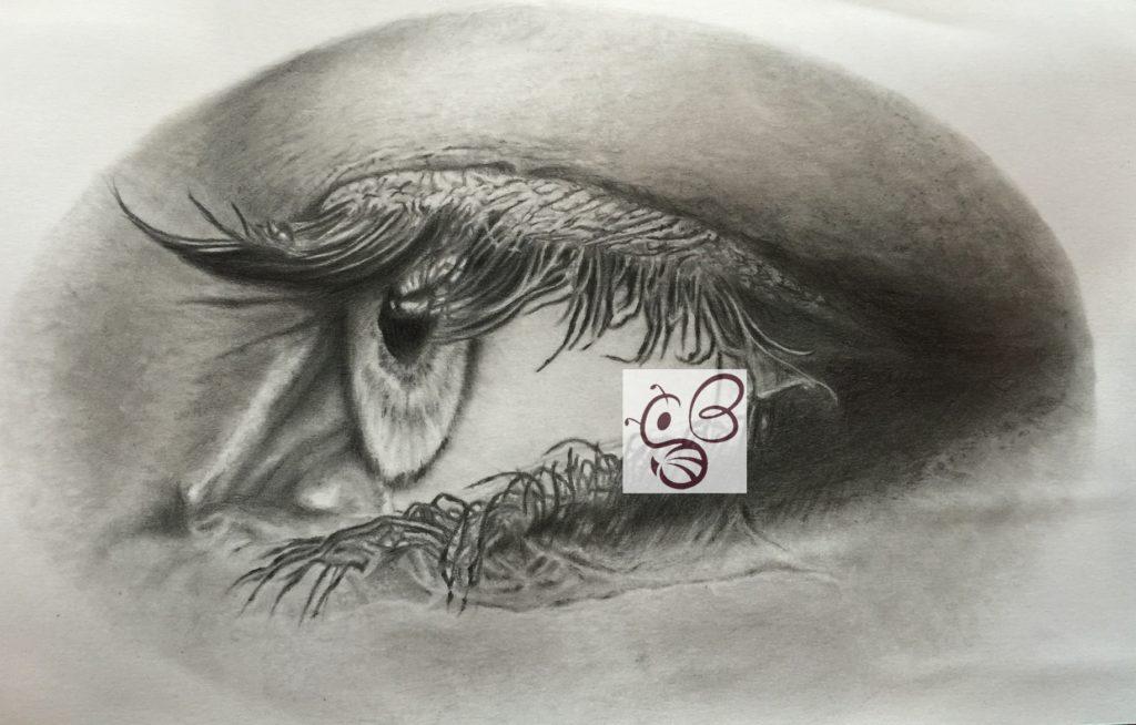 eyes 鉛筆画